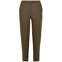 Buy Jaeger Linen Slouch 7/8 Chinos, Khaki Online at johnlewis.com