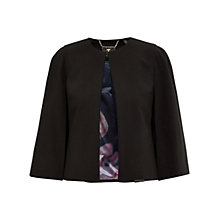 Buy Ted Baker Cropped Cape Jacket, Black Online at johnlewis.com