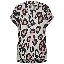 Buy Jaeger Animal Print Linen Top Online at johnlewis.com