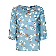 Buy Sugarhill Boutique Floral Wisteria Top, Blue Online at johnlewis.com