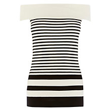 Buy Coast Valentina Stripe Knit Top, White/Black Online at johnlewis.com
