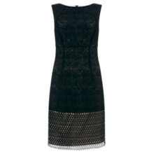 Buy Mint Velvet Mesh Lace Dress, Black Online at johnlewis.com