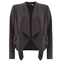 Buy Mint Velvet Knot Back Drape Front Jacket, Granite Online at johnlewis.com