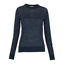 Buy Whistles Fine Gauge Marl Knit Jumper, Navy Online at johnlewis.com
