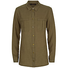 Buy Jaeger Linen Boyfriend Shirt, Khaki Online at johnlewis.com