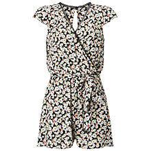 Buy Miss Selfridge Floral Wrap Playsuit, Multi Online at johnlewis.com