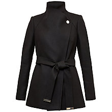 Buy Ted Baker Elethea Short Button Detail Coat, Black Online at johnlewis.com