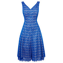 Buy Coast Azaela Lace Bardot Dress, Cobalt Blue Online at johnlewis.com