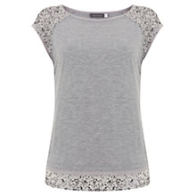 Buy Mint Velvet Layered Sequin T-Shirt, Silver Online at johnlewis.com