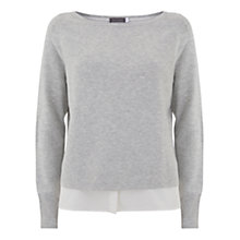 Buy Mint Velvet Cropped Jumper, Silver Grey Online at johnlewis.com
