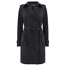 Buy Mint Velvet Wrap Back Trench Coat, Grey Smoke Online at johnlewis.com