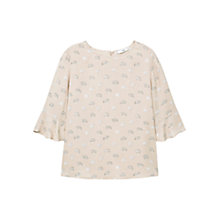 Buy Mango Ruffled Sleeve Blouse Online at johnlewis.com