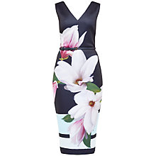 Buy Ted Baker Aviah Magnolia Stripe Dress, Navy Online at johnlewis.com