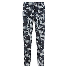 Buy Mint Velvet Lucie Print Cotton Trousers, Charcoal/Ivory Online at johnlewis.com