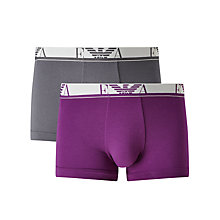 Buy Emporio Armani Trunks, Pack of 2 Online at johnlewis.com