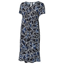 Buy Mamalicious Blocky Woven Maternity Dress, Navy/Multi Online at johnlewis.com