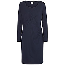 Buy Mamalicious Petite Tess Long Sleeve Maternity Dress, Navy Online at johnlewis.com