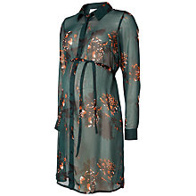 Buy Mamalicious Shane Long Sleeved Shirt Dress, Sycamore Online at johnlewis.com