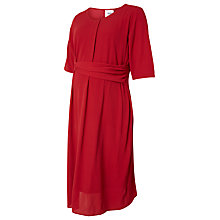 Buy Mamalicious Layla 3/4 Woven Maternity Dress, Red Online at johnlewis.com