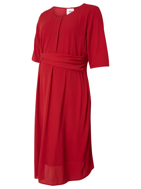 Mamalicious Mamalicious Layla 3/4 Woven Maternity Dress, Red