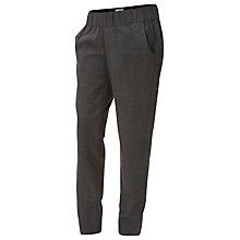Buy Mamalicious Woolly Woven Maternity Trousers, Dark Grey Online at johnlewis.com