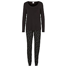 Buy Mamalicious Stardust Maternity Nursing Pyjamas, Black/White Online at johnlewis.com