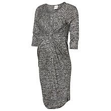 Buy Mamalicious Nora 3/4 Maternity Jersey Dress, Dark Grey Online at johnlewis.com