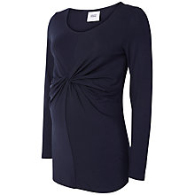 Buy Mamalicious Petite Knot Long Sleeve Jersey Top, Navy Online at johnlewis.com