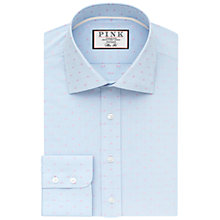 Buy Thomas Pink Bared Check Classic Fit Shirt, Pale Blue/Pink Online at johnlewis.com