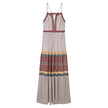 Buy Mango Printed Long Dress, Natural White Online at johnlewis.com