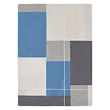 Buy John Lewis Lucas Rug, Blue Online at johnlewis.com