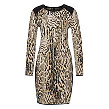 Buy Marc Cain Fine Knit Jacquard Dress, Magnolia Online at johnlewis.com