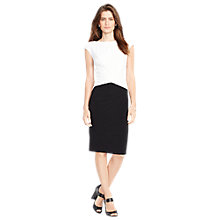 Buy Lauren Ralph Lauren Cynthiette Dress, White/Black Online at johnlewis.com