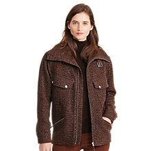 Buy Lauren Ralph Lauren Hollina Herringbone Jacket, Brown Online at johnlewis.com