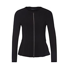 Buy Marc Cain Zip Up Jacket, Black Online at johnlewis.com