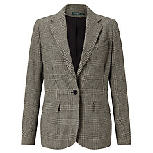 Buy Lauren Ralph Lauren Alaric Blazer, Black/Cream Online at johnlewis.com