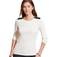 Buy Lauren Ralph Lauren Gacy Top, French Cream Online at johnlewis.com