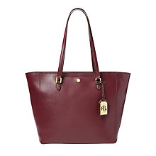 Buy Lauren Ralph Lauren Halee Tote Bag, Claret Online at johnlewis.com