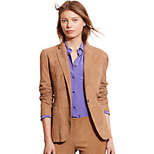 Buy Lauren Ralph Lauren Angona Suede Jacket, Hunter Tan Online at johnlewis.com