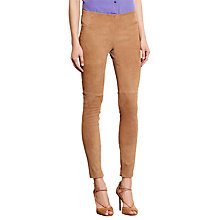 Buy Lauren Ralph Lauren Adanne Skinny Trousers, Hunter Tan Online at johnlewis.com