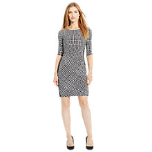Buy Lauren Ralph Lauren Drew Dress, Black/Cream Online at johnlewis.com