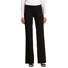 Buy Lauren Ralph Lauren Stretch Twill Flared Trousers, Black Online at johnlewis.com