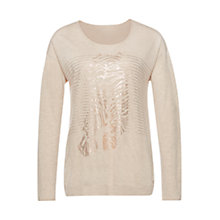 Buy Marc Cain Foil Print Wool-Blend Jumper, Magnolia Online at johnlewis.com