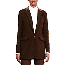 Buy Lauren Ralph Lauren Ghita Blazer, Chocolate Online at johnlewis.com