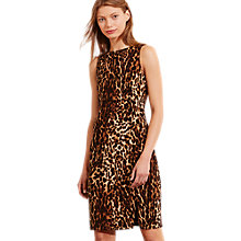 Buy Lauren Ralph Lauren Juancarlos Leopard Print Dress, Brown Tonal Online at johnlewis.com