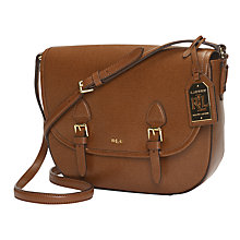 Buy Lauren Ralph Lauren Messenger Bag, Lauren Tan Online at johnlewis.com