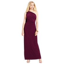Buy Lauren Ralph Lauren Lisamae Dress, Marsala Online at johnlewis.com