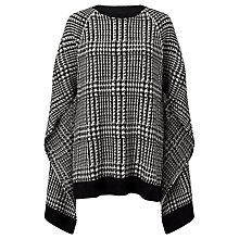 Buy Lauren Ralph Lauren Sheneva Merino Wool Cape, Black/Modern Cream Online at johnlewis.com