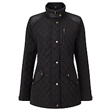 Buy Lauren Ralph Lauren Diamond Quilted Jacket, Black Online at johnlewis.com