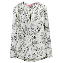 Buy Joules Rosamund Printed Blouse, Cream Winterberry Online at johnlewis.com